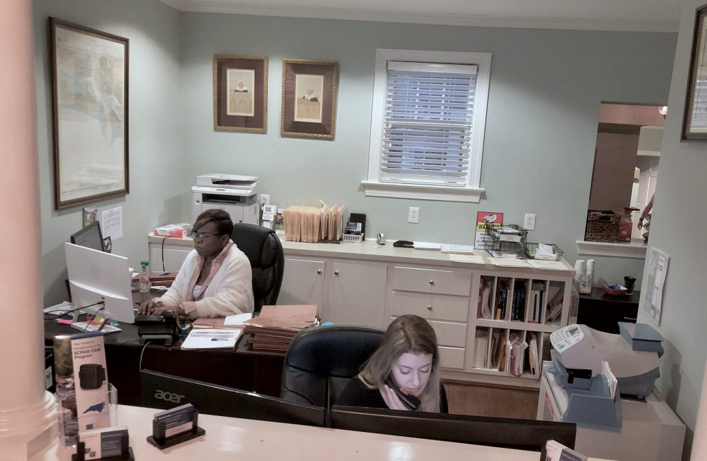 front desk at SeiferFlatow, PLLC in Charlotte
