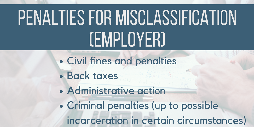 Misclassification in NC