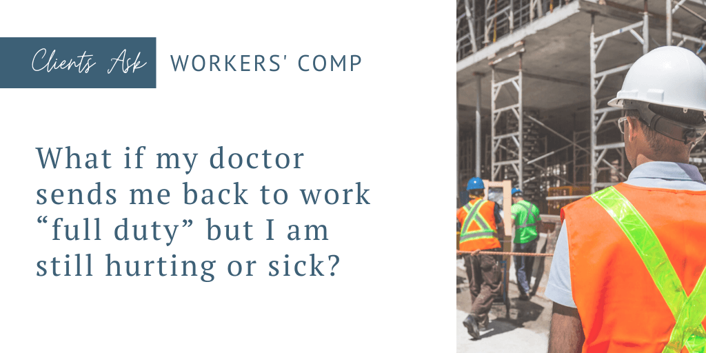 return to work workers' compensation