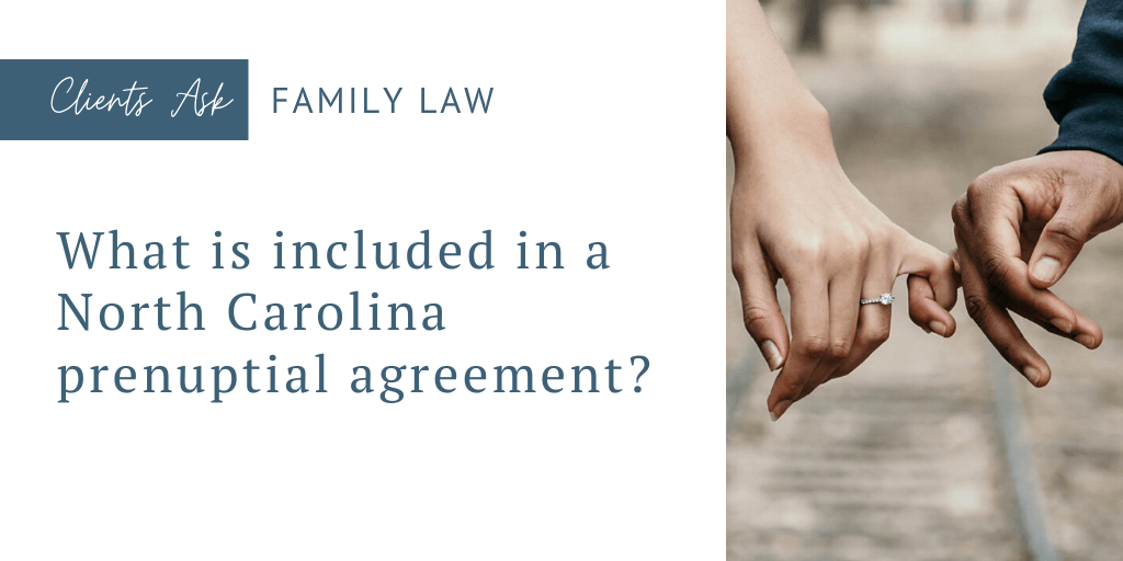 north carolina prenuptial agreement