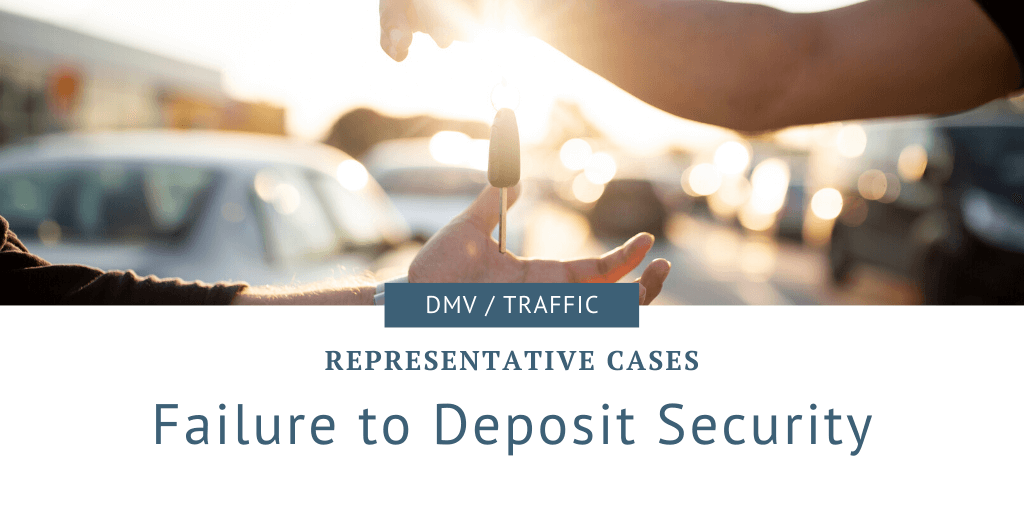 failure to deposit security