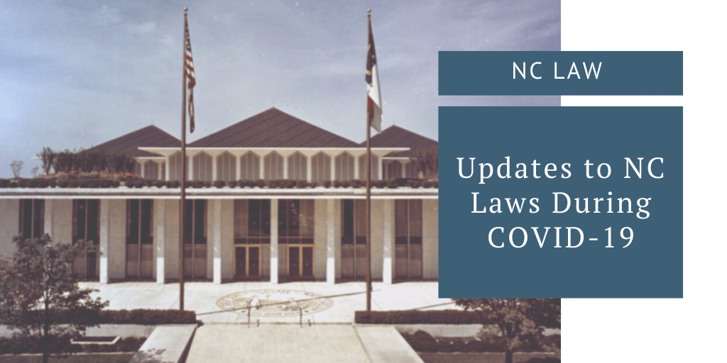 updates to NC laws during covid-19